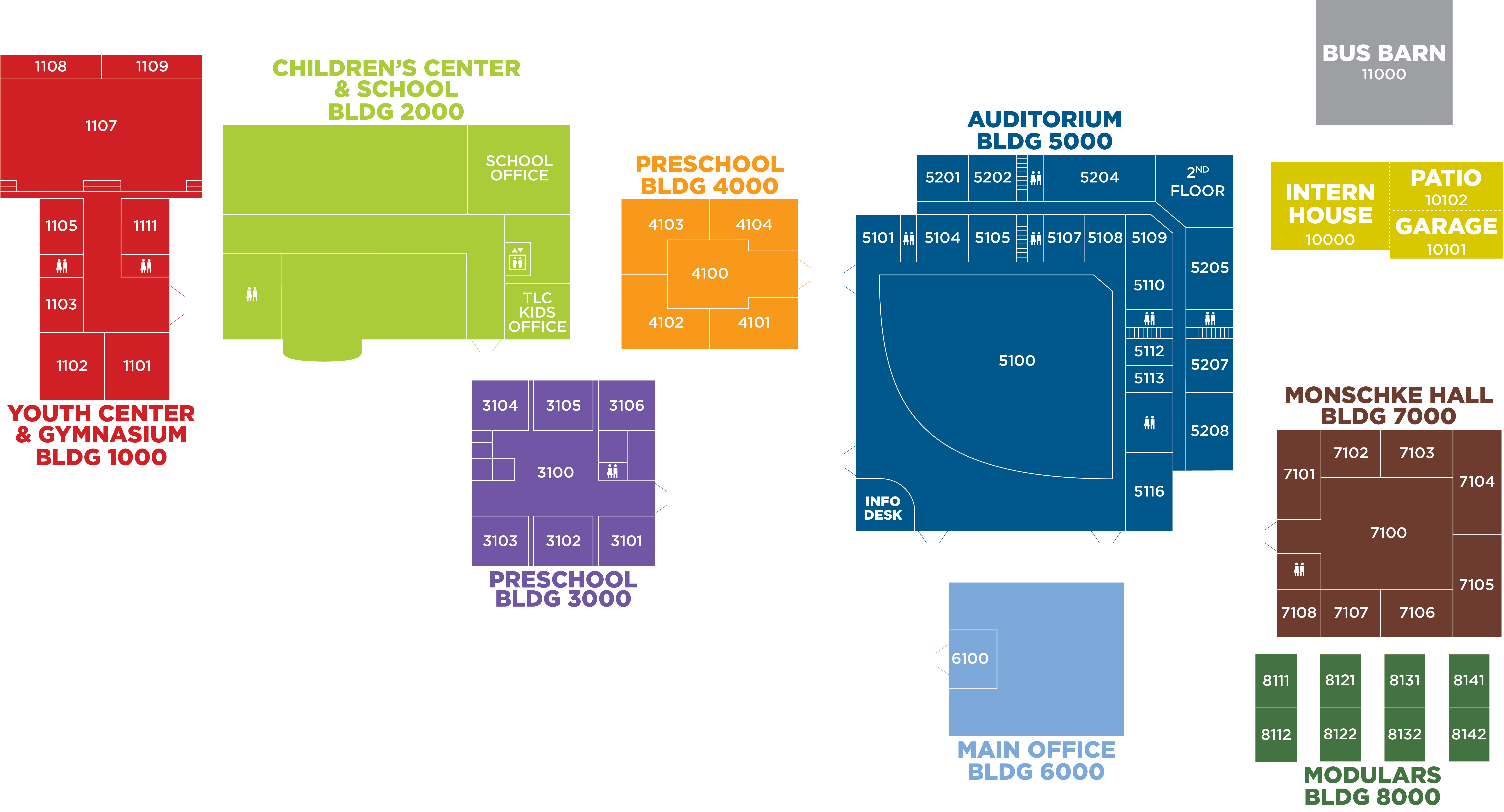 Holy Family Campus Map.Campus Map Twin Lakes Church